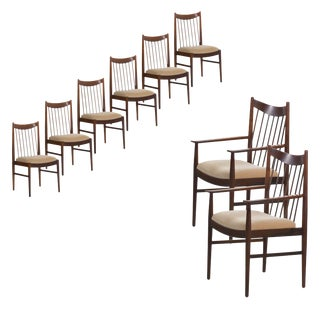 Set of Eight Danish Modern Rosewood Dining Chairs by Arne Vodder for Sibast Møbler For Sale