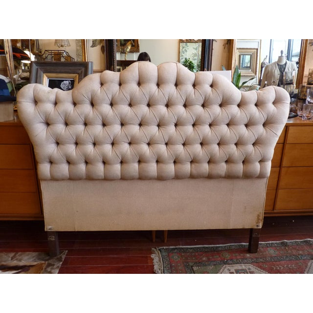 Vintage Tufted Full Size Hearboard - Image 2 of 8