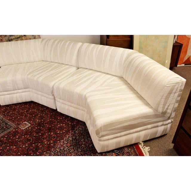 Mid-Century Modern Four-Piece White Octagon Sectional Sofa Baughman, 1970s For Sale In Detroit - Image 6 of 13