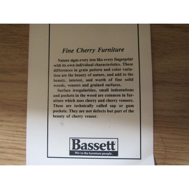 Vintage Bassett Flip Top Cherry Server Bar Cabinet For Sale - Image 9 of 10