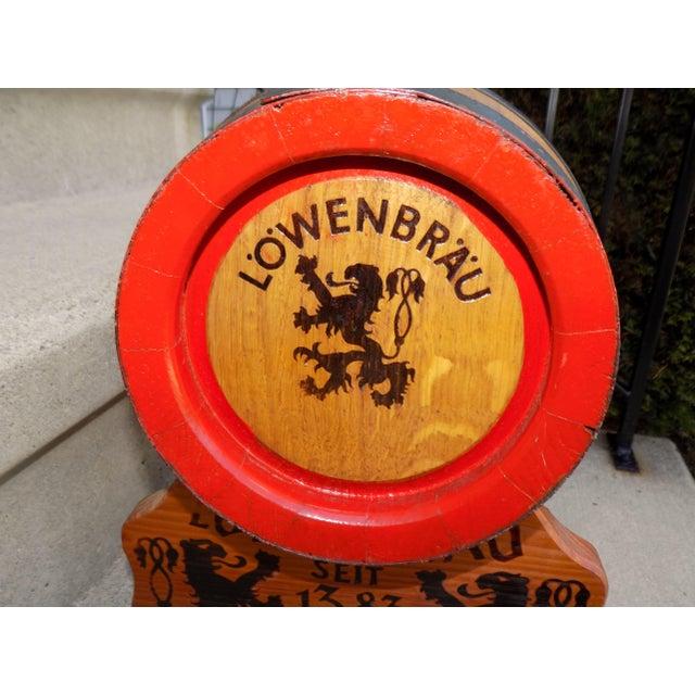 Lowenbrau Beer Wood Keg & Base - Image 8 of 11