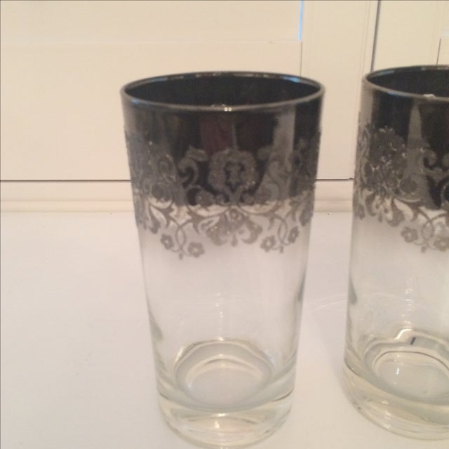 Mid-Century Modern Dorothy Thorpe Ombré Embossed Glasses - Set of 4 For Sale - Image 3 of 8