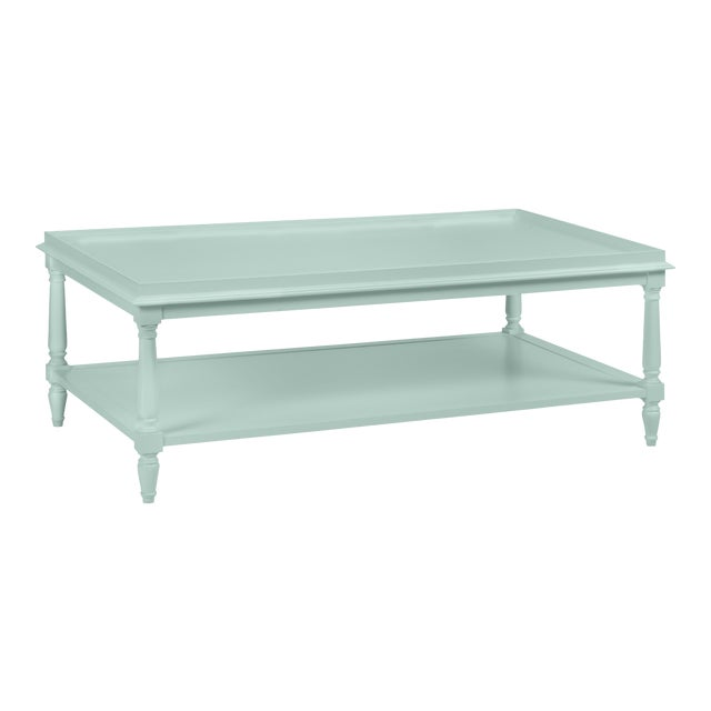 Casa Cosima Revere Cocktail Table, Palladian Blue For Sale