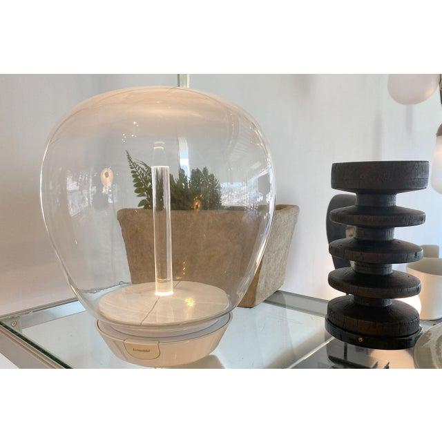 Kartell Artemide Led Hand Blown Glass Globe Table Lamp For Sale - Image 4 of 5