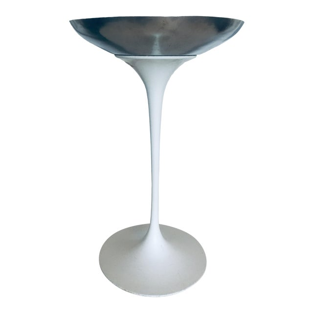 1950s Eero Saarinen for Knoll Tulip Plant Stand Planter Catchall Ashtray Eames Era For Sale