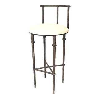 Post-War Giacometti Textured Bar Stool For Sale