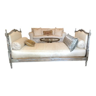 1990s Vintage Custom Silk Daybed For Sale