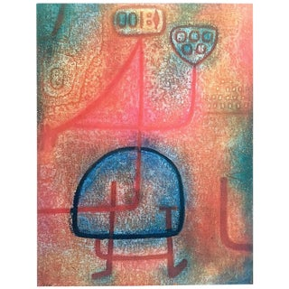"Paul Klee Foundation Rare Vintage 1960 Collector's Lithograph Print "" La Belle Jardiniere "" 1939 For Sale"