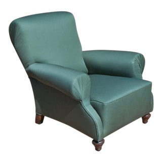 Early 20th Century Turquoise Vintage Club Chair For Sale
