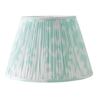 "Soft Ikat in Mint 16"" Lamp Shade, Mint For Sale"