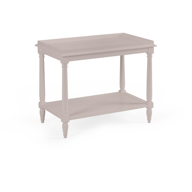 Transitional Casa Cosima Revere Side Table, Elephant Gray For Sale - Image 3 of 3