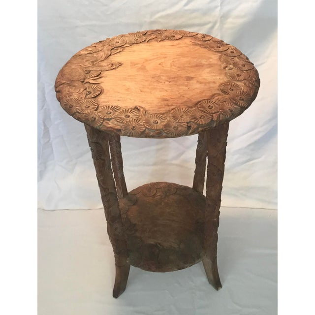 African Carved Monkey Side Table For Sale - Image 4 of 11