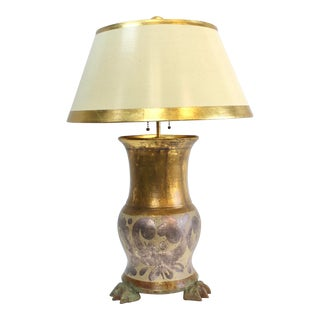 Leviton Bronze Resin Lamp For Sale