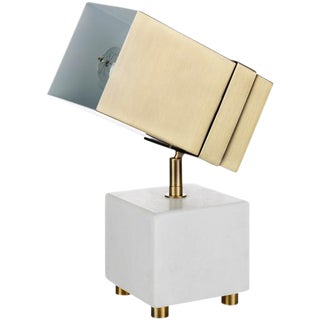 Marble and Brass Directional Spot Light/ Table Lamp For Sale