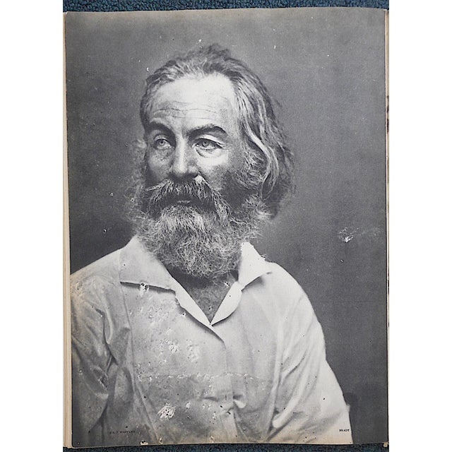 "Vintage Heliogravure Photo by Mathew Brady-""Walt Whitman""-Verve-Paris-1939 For Sale - Image 4 of 5"