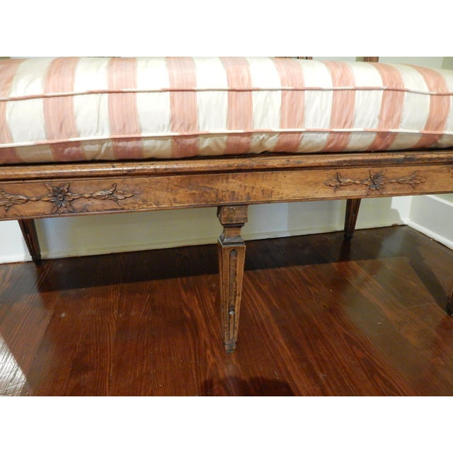 Brown Louis XVI Walnut 18th Century Settee For Sale - Image 8 of 10
