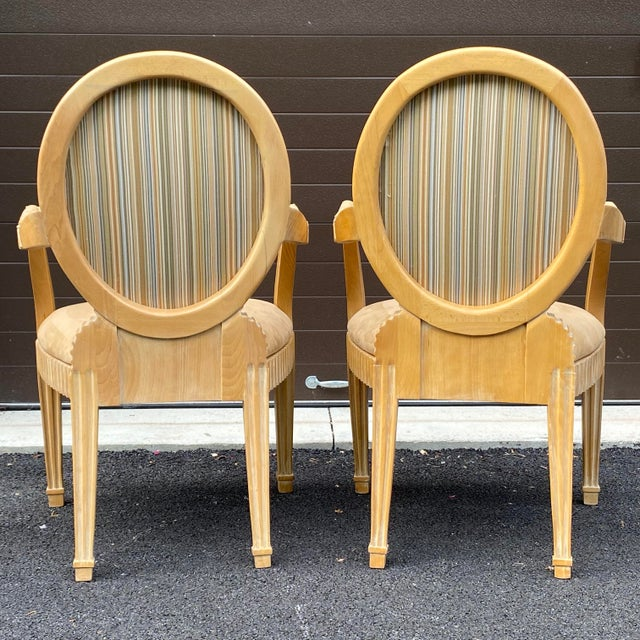 Late 20th Century 1980s John Hutton for Donghia Style Soleil Armchair - a Pair For Sale - Image 5 of 13