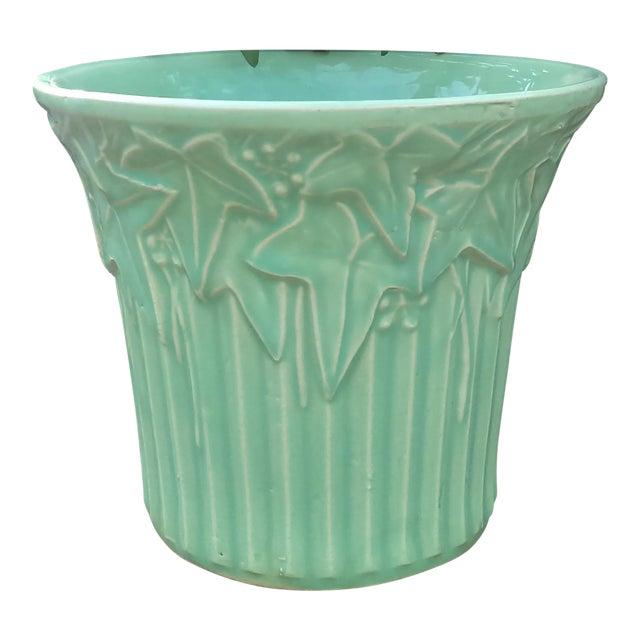 Vintage Mccoy Pottery Light Green Vase Chairish
