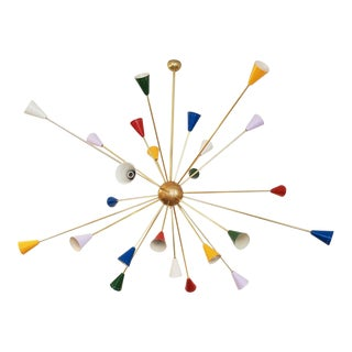 Mid-Century Italian Sputnik Chandelier, 1950s For Sale