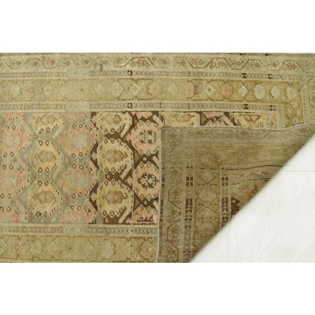 Tan 1920s Vintage Persian Kurdish Style Rug - 3′1″ × 9′3″ For Sale - Image 8 of 11