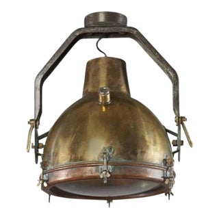 Large Maritime Brass and Metal Pendant