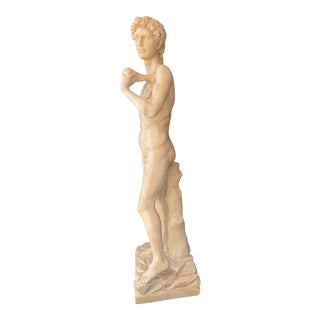 1950s Marble Statue of Michelangelo's David For Sale