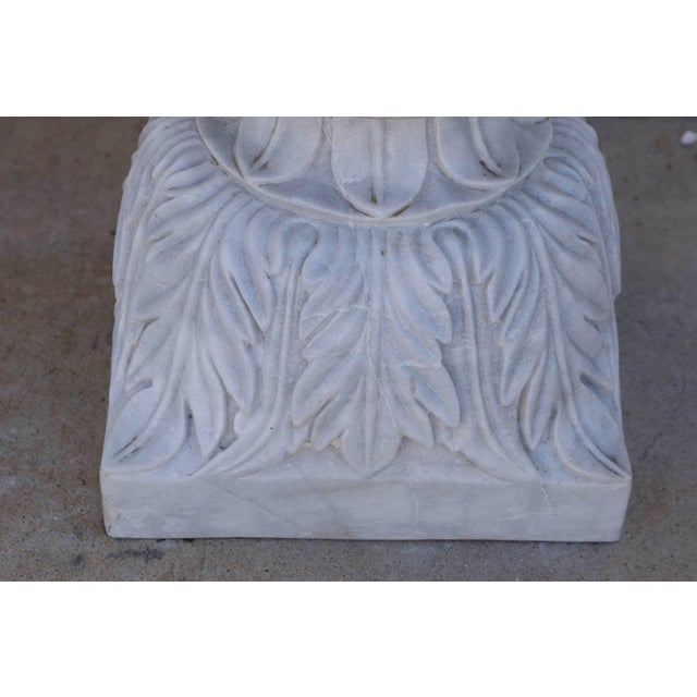These garden vases were carved from fine high quality marble blocks. It is made of two parts. Sold as a pair. These vases...