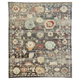 Contemporary Turkish Oushak Rug - 8′4″ × 9′10″ For Sale