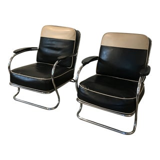 1930s Art Deco Kem Weber for Lloyd Club Chairs - a Pair
