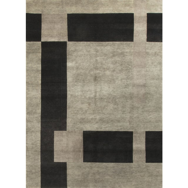"""Modern Hand-Knotted Wool Rug - 8'3"""" x 11'2"""" - Image 1 of 4"""