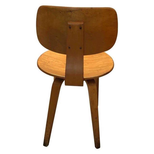 Thonet Vintage Mid Century Thonet Bent Plywood Chairs- Set of 6 For Sale - Image 4 of 8