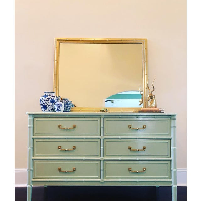 Mint 1970s Henry Link Faux Bamboo Dresser For Sale - Image 8 of 8