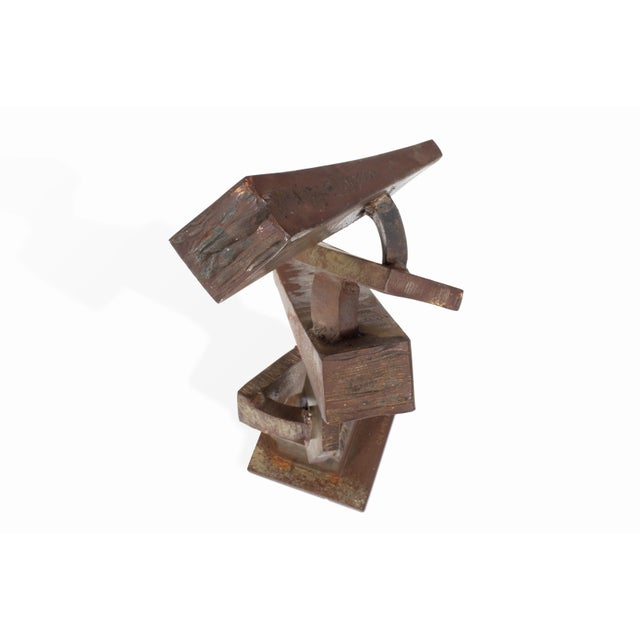 Vintage Mid-Century Brutalist Metal Sculpture by Peter Calaboyias For Sale - Image 9 of 13