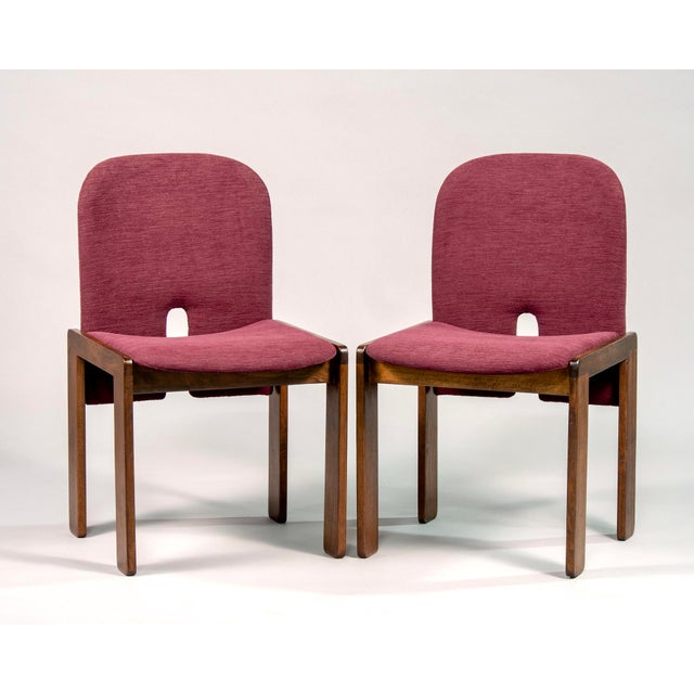 Set of eight Cassina chairs designed by Afra and Tobia Scarpa, circa 1960s. Walnut frames have been professionally...