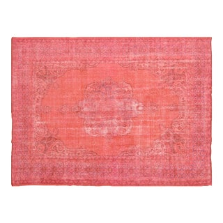 """Vintage Turkish Anatolian Overdyed Hand Knotted Organic Wool Fine Weave Rug,8'4""""x11'4"""" For Sale"""