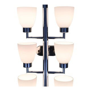 Set of Two Large Fontana Arte Eight-Light Sconces For Sale