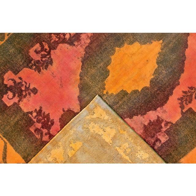"Islamic Apadana - Vintage Overdyed Rug, 9'4"" X 12'6"" For Sale - Image 3 of 7"