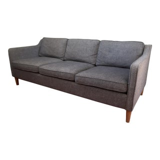 Modern West Elm Hamilton Tweed Sofa For Sale