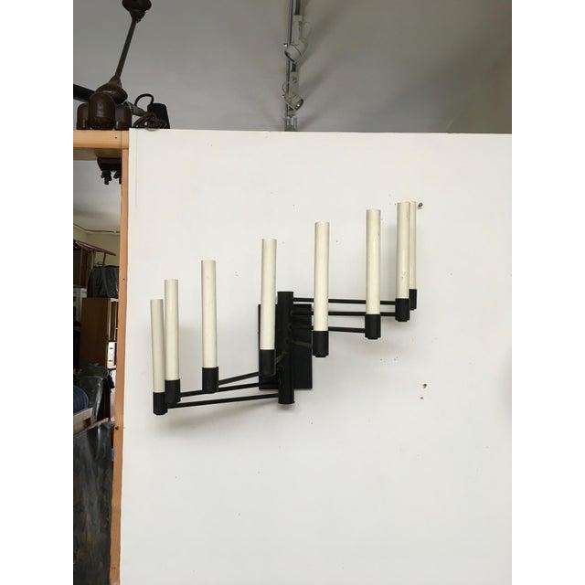 Modern Black Lightolier Eight Arm Sconce For Sale - Image 3 of 9