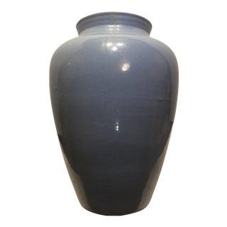 1940s Vintage Blue Vase For Sale