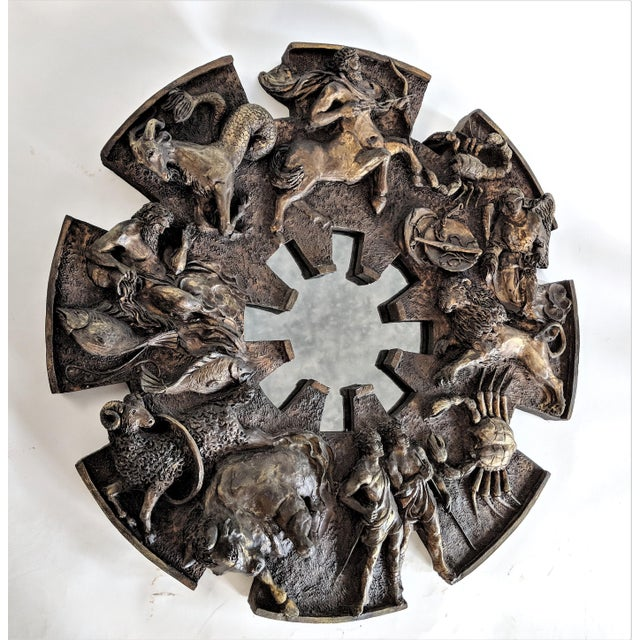 Anglo-Indian Bu Finesse Originals Zodiac Wall Mirror For Sale - Image 3 of 13