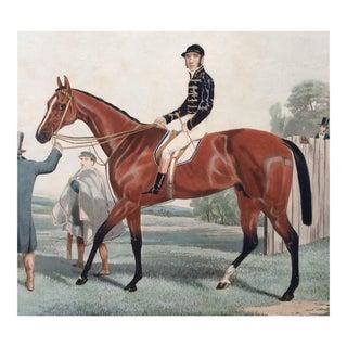1853 English Horse Racing Aquatint For Sale