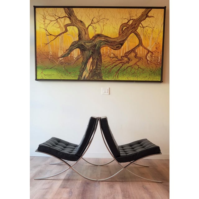 Mid-Century Modern 1970's Vintage Barcelona Chair by Knoll - a Pair For Sale - Image 3 of 13