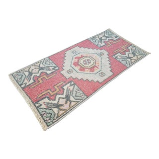 1970s Miniature Turkish Rug - 1′4″ × 2′9″ For Sale