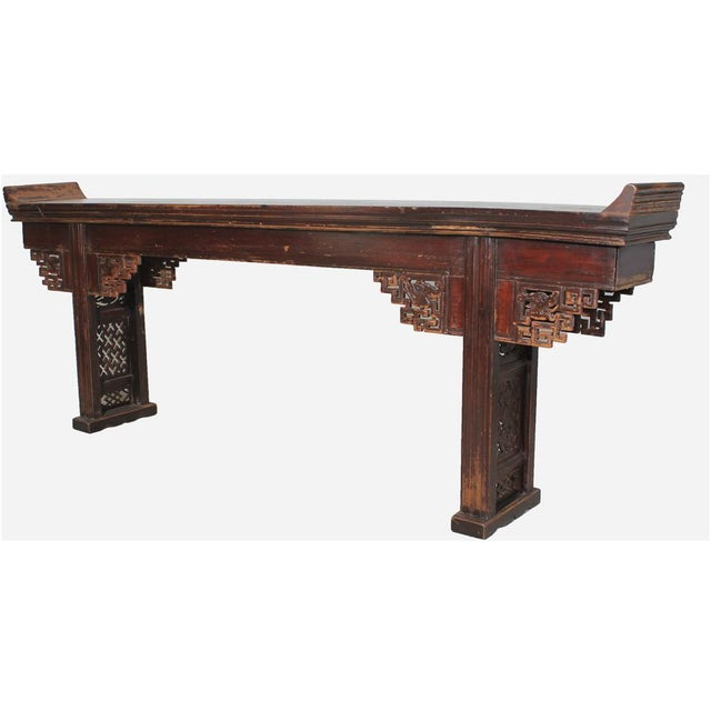 Antique ming console table chairish for Table th width ignored