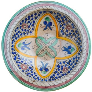 Fine Moorish Pattern Ceramic Plate For Sale