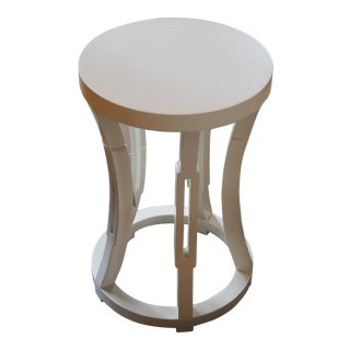 Modern White Lacquer Garden Stool For Sale