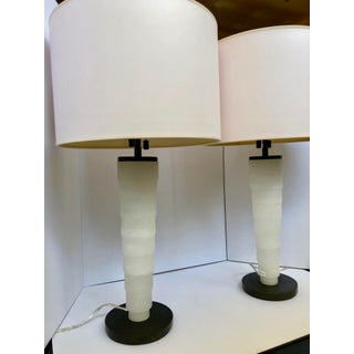 Modern Stanford Alabaster Table Lamp by Thomas O'Brien for Visual Comfort With Shades - a Pair Preview