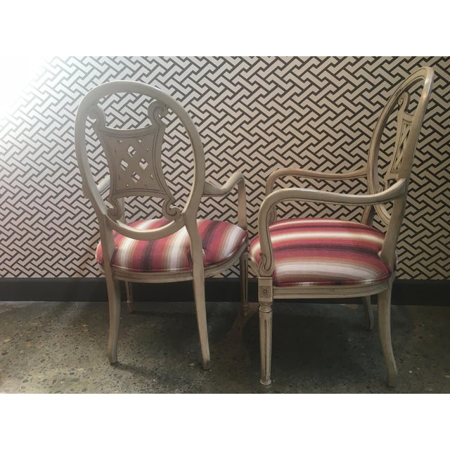 Upholstered Gustavian Chairs - A Pair For Sale - Image 4 of 5