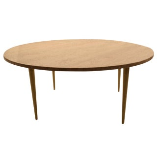 Italian Round Marble Top Coffee Cocktail Table For Sale
